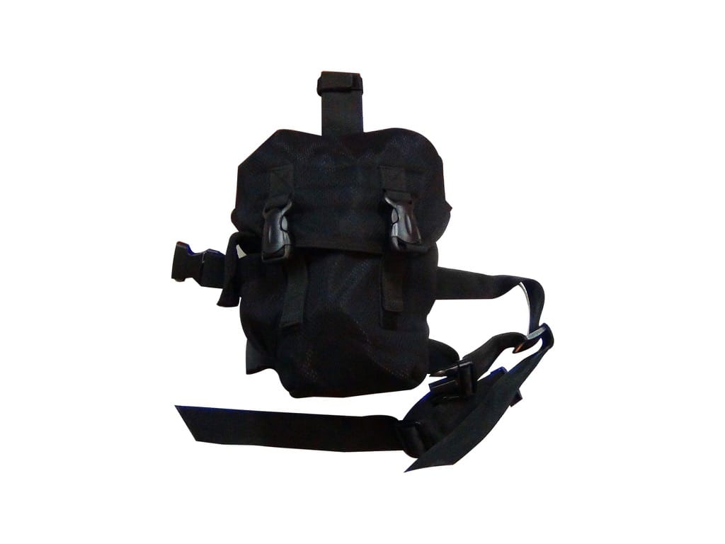 Drop Leg Gas Mask Pouch PM-001 Black